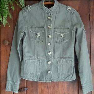 Women's Jordache, military look olive green jacket
